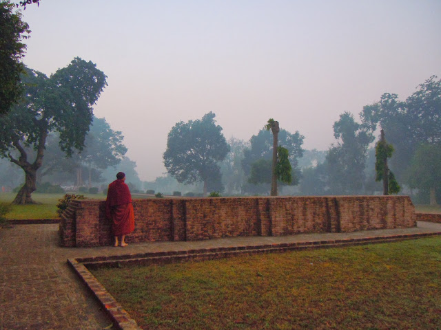 Buddhas walking path at Savatthi India.JPG