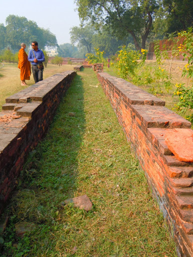 Buddhas walking path at Sarnath India.JPG